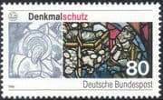 Germany 1986 Protection of Monuments/ Pollution/ Stained Glass/ Heritage 1v (n44481)