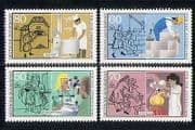 Germany 1986 Trades/ Baker/ Bricklayer/ Optician/ Business/ Welfare 4v set (n27498)
