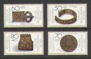 Germany 1987 Jewellery  /  Gold  /  Silver  /  Gems 4v set (n21383)