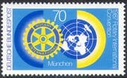 Germany 1987 Rotary Convention, Munich/ People/ Welfare/ Map/ Emblem 1v (n27532)