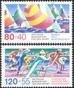 Germany 1987 Sports Fund/ Sailing/ Yachts/ Boats/ Skiing/ Animation 2v set (n27511)