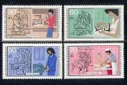 Germany 1987 Trades  /  Business  /  Welfare 4v set (n27500)