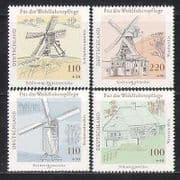 Germany 1987 Windmills  /  Mills  /  Buildings 4v set (n27860)