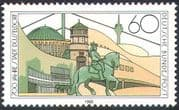 Germany 1988 Dusseldorf 700th Anniversary/ Monument/ Horse/ Statue/ Buildings/ Animation 1v (n29638)