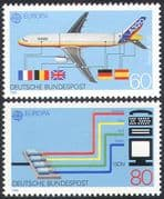 Germany 1988 Europa/ Aviation/ Plane/ Aircraft/ Transport/ Communication 2v set (n27673)