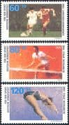 Germany 1988 Football/ Tennis/ Diving/ Sports Fund/ Games/ Soccer 3v set (n27506)