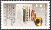 Germany 1989 Posthorn/ Stamp Booklet/ StampEx/ IPHLA '89/ Music/ Musical Instruments 1v (n31723)