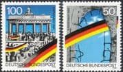 Germany 1990 Berlin Wall/ Brandenburg Gate/ Buildings/ Architecture/ Politics 2v set (n45371)
