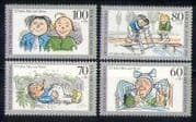 Germany 1990 Cartoons  /  Books  /  Animation 4v set (n28049)