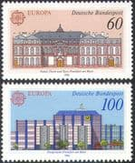 Germany 1990 Europa/ Post Office Buildings/ Architecture/ Animation 2v set (n28088)