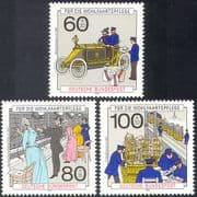 Germany 1990 Post  /  Car  /  Mail  /  Telephone  /  Transport  /  Motors  /  Welfare 3v set (n27962)