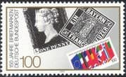 Germany 1990 Stamp Day/ Penny Black/ Stamp-on-Stamp/ StampEx/ S-on-S 1v (n44485)