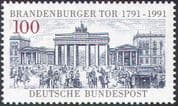 Germany 1991 Brandenburg Gate/ Buildings/ Architecture/ Monuments/Horses/ Carriages/ Transport 1v (n25076)