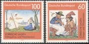 Germany 1991 Folk Tales/ Legends/ Myths/ Fairy Stories/ Violinist/ Music/ Dragonfly/ Insects 2v set (n27540)