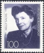 Germany 1991 Nelly Sachs/ Writers/ Authors/ Books/ Writing/ Literature/ People 1v (n45373)