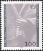 Germany 1991 Refugees/ Welfare/ Safety/ People/ UN/ United Nations/ Hands 1v (n45014)
