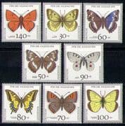 Germany 1991 Welfare Fund/ Butterflies/ Insects/ Nature 8v set (n27872)
