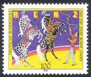 Germany 1992 Ernst Renz/ Horses/ Circus/ Animals/ People/ Animation 1v (n27863)