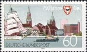 Germany 1992 Kiel 750th Anniversary/ Town Buildings/ Architecture/ Boats/ Sailing/ Transport 1v (n44984)