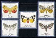 Germany 1992 Moths  /  Insects  /  Nature  /  Welfare 5v set n27873