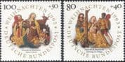 Germany 1993 Christmas/ Greetings/ Nativity/ Magi/ Kings/ Carving/ Art 2v set (g10112)