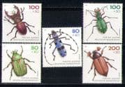 Germany 1993 Welfare Fund/ Beetles/ Insects/ Nature/ Wildlife/ Conservation 5v set (n27871)