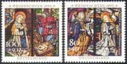 Germany 1995 Christmas/ Greetings/ Nativity/ Stained Glass/ Art/ Craft 1v (n42605)