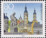 Germany 1995  Gera 1000th/ Town Buildings/ Churches/ Fountain/ Statue/ Clock Towers  1v  (n46437)