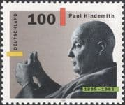 Germany 1995 Paul Hindemith/ Music/ Composer/ Arts/ Musician/ Violinist 1v (n45979)
