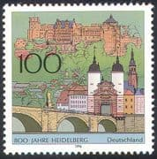 Germany 1996 Heidelberg/ Town Buildings/ Architecture/ Castle/ Bridge 1v (n41420)
