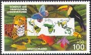 Germany 1996 Leopard/ Toucan/ Frog/ Butterfly/ Wildlife/ Nature/ Cats/ Birds/ Protection/ Conservation/ Environment 1v n19464