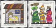 Germany 1997 Christmas/ Greetings/ Nativity/ Magi/ Kings/ Three Wise Men/ Animation 2v set (g10114)