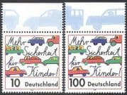 Germany 1997 Road Safety  /  Cars  /  Bus  /  Lorry  /  Motoring  /  Animation 2v set (n27965)