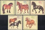 Germany 1997 Youth Welfare Fund/ Horse/ Animals/ Nature/ Transport/ Sports 5v (b6170)