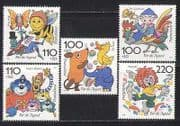 Germany 1998 Cartoons  /  Animals  /  Birds  /  Insects 5v (n27862)