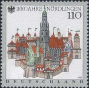 Germany 1998  Nordlingen 1100th/ Church/ Towers/ Town Buildings/ Architecture  1v  (n46436)