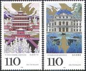 Germany 1998 UNESCO/ Heritage/ Buildings/ Architecture/ Palace/ Temple 2v set n29534
