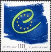 Germany 1999 Council of Europe 50th Anniversary/ Flags/ Politics/ People 1v (n45022)