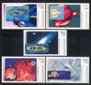Germany 1999 Space  /  Holograph  /  Astronomy  /  Science  /  Comet  /  Galaxies 5v set (n27840)