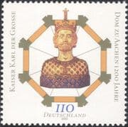 Germany 2000 Aachen Cathedral  /  Religion  /  Charlemagne  /  Royalty 1v (n33417)