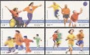 Germany 2001 Basketball/ Skating/ Athletics/ Sports Fund/ Games/ Wheelchair/ Disabled 4v set (n42761)