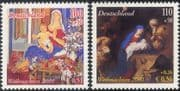 Germany 2001 Christmas/ Greetings/ Nativity/ Art/ Paintings/ Artists/ Shepherds 2v set (g10117)