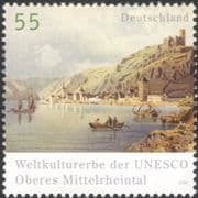 Germany 2006 UNESCO/ River Rhine/ Castle/ Church Tower/ Heritage/ History/ Boats/ Transport 1v (n44534)