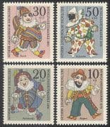 Germany (B) 1970 Puppets  /  Punch  /  Welfare 4v set (n25425)