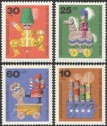 Germany (B) 1971 Puppets/ Horse/ Wooden Toys/ Welfare Fund/ Health 4v set (g10128)