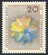 Germany (B) 1973 Christmas/ Star/ Animation/ Greetings/ Seasonal 1v (n42097)