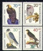 Germany (B) 1973 Eagle  /  Hawk  /  Falcon  /  Birds  /  Raptors  /  Wildlife 4v set (n28264)