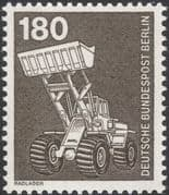 Germany (B) 1975 Industry/ Technology/ Tractors/ Tippers/ Shovels/ Transport 1v (n25430p)