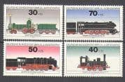 Germany (B) 1975 Steam  /  Trains  /  Transport 4v set (n25256)
