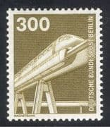 Germany (B) 1975 Trains/ Monorail/ Rail/ Railways/ Transport/ Science/ Industry/ Technology 1v (n25081)